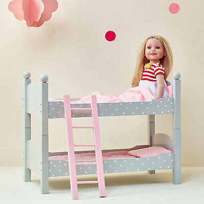 Olivia's Little World Baby Doll Furniture Polka Dots Double Bunk Bed