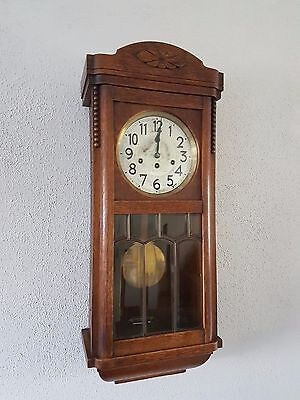 0053-Antique German Junghans  Westminster chime wall clock