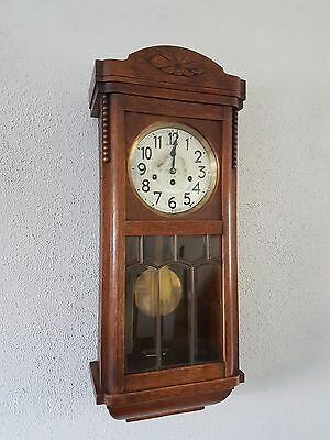 0129-Antique German Junghans  Westminster chime wall clock