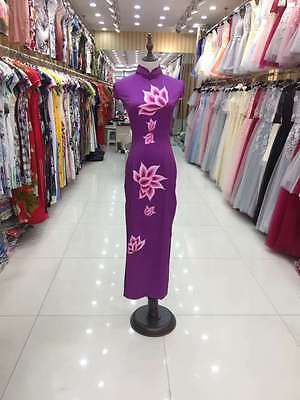 2017 New Cheongsam QiPao Chinese Women Embroidery Evening Party Long Dress