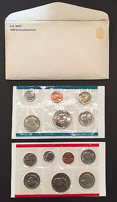 1980  Genuine U.S. MINT SETS ISSUED BY U.S. MINT, $7.95 EACH