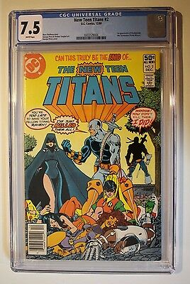 The New Teen Titans #2 - 1st appearance of Deathstroke (Slade Wilson) - CGC 7.5