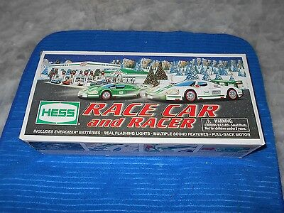 Vintage 2009 Hess Race Car And Racer Mint, Unused, In Box