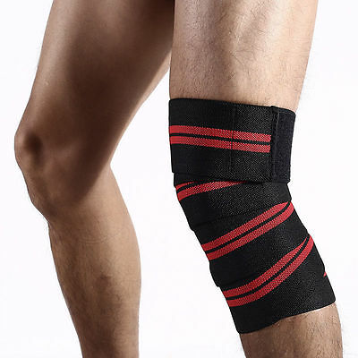 New Men Bandage Sport Knee Support Strap Knee Pads Protector Band Leg Wrist Wrap
