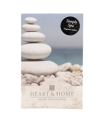 Large 100ml Heart & Home Fragrance Scented sachet - Simply Spa