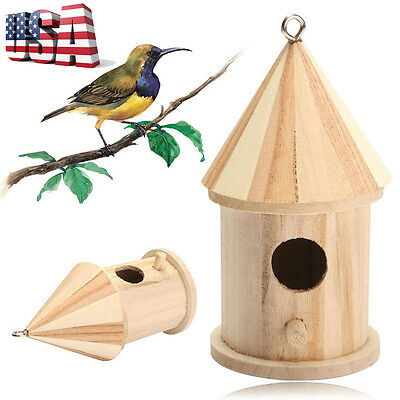 Wooden Nest Bird Nest House Mini Creative Wall Hanging Bird Nest House Bird Box