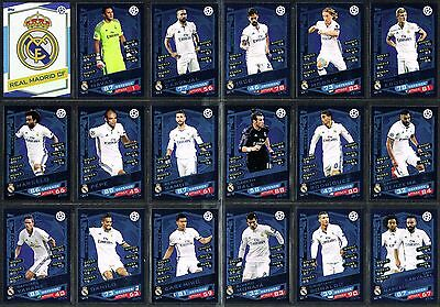 CHAMPIONS LEAGUE MATCH ATTAX 2017 ☆☆ REAL MADRID ☆☆ Football Cards #RM1 to #RM18