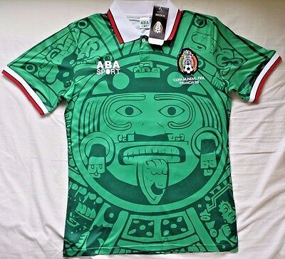 1998 Mexico Home green retro soccer football shirt jersey