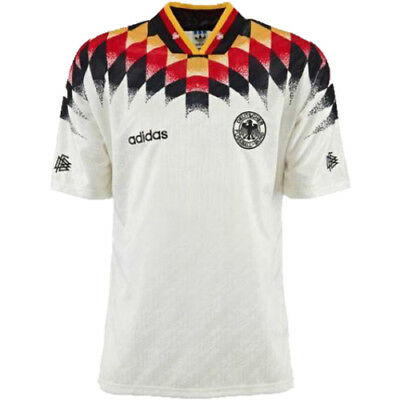 Embroidered 1994 West Germany home retro soccer football shirt jersey kit