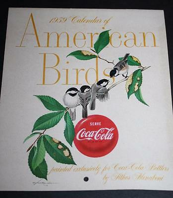 1959 Coca-Cola Calendar with Original Envelope