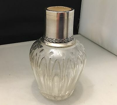 OUTSTANDING c1880 French Sterling Silver & Crystal CARAFE Bottle Water Wine-L650
