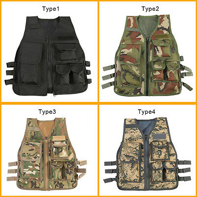 4 Colors Child Kid Tactical Vest RPG CS Game Combat Assault Army Clothing OB