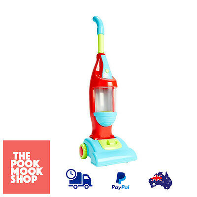 Light Up Vacuum Cleaner Play Toy Floor Pretend Kids Plastic Helper w/ Sounds