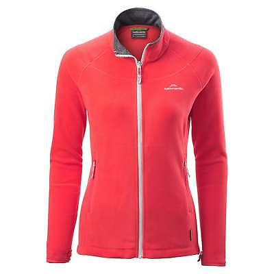 Kathmandu Trailhead Womens High Collar Full Zip Warm Outdoor Fleece Jacket Red