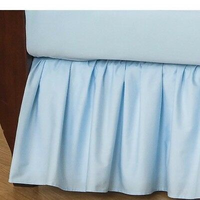 TL Care 100% Cotton Percale Crib Bed Skirt Blue New