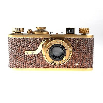 Leica 1a Gold with Brown Lizard Covering