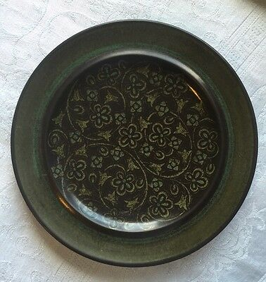 """(4838) One Vintage Franciscan Madeira 8 1/4"""" Salad Plate Stoneware Brown Green"""