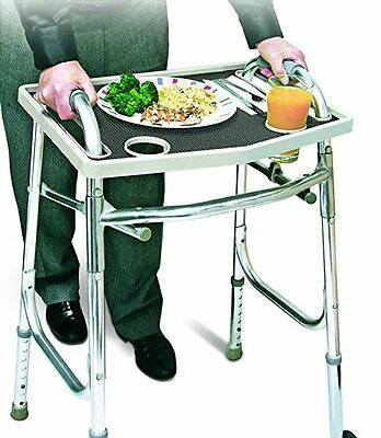 Universal Walker Tray Table With Non Slip Grip Mat - Gray