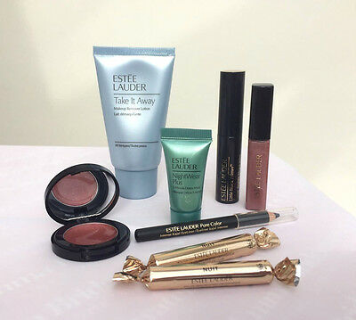 Estee Lauder lip gloss, mascara, eye pencil, Modern Muse and skin care items new