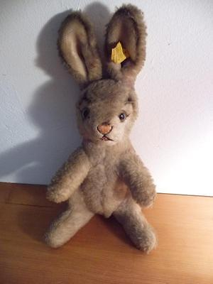 steiff alter Hase ca. 1955 mit Fahne Nr.4617,00