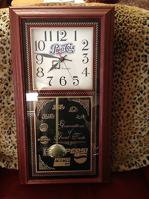 Pepsi Cola Generation Of Great Taste Pendulum Wall Clock 2ft by 13""