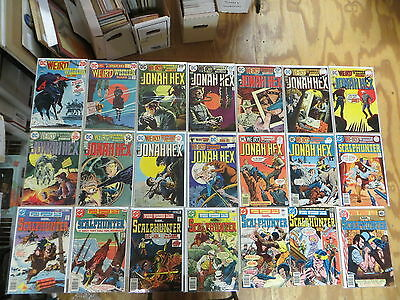 Weird Western Tales 25 Issue Bronze Comic Run 15-70 Dc Western Jonah Hex