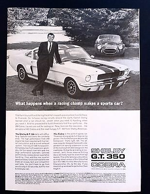 Shelby G.T. 350 Cobra | 1966 Vintage Ad | 1960s Sports Car Fast Style
