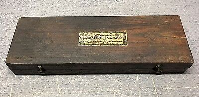 Vintage Wells Brothers Co. Little Giant #1 Assortment Tap & Die WOOD BOX ONLY