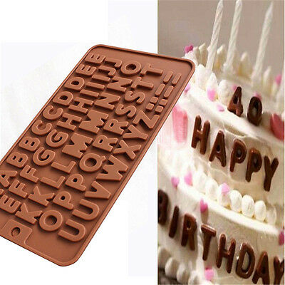 26 Letter Silicone Chocolate Cake Mold Cookie Mould Crafts Cookie Candy Ice Cube
