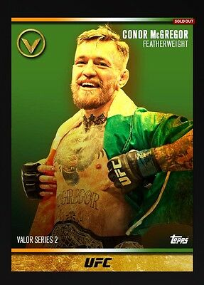 Conor McGregor Valor 2 Topps UFC Knockout Digital Inserts