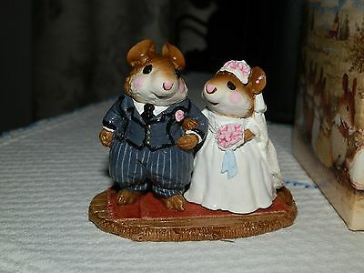 Wee Forest Folk -MOUSE FIGURINE-Wedding Mice