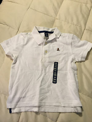 New Toddler Baby Gap White Polo Shirt Size 3 Years!