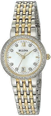 Bulova Women s Quartz Stainless Steel Casual Watch Color Two Tone Model 98R211
