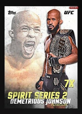 Demetrious Johnson White Spirit 2 Topps UFC Knockout Digital Inserts