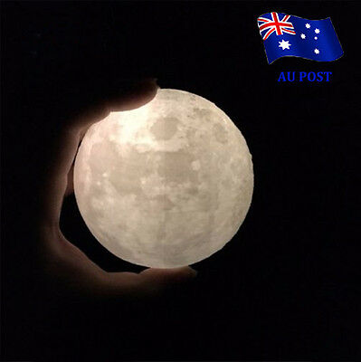 3D Printing Luna Night Light LED Moon Lamp Touch Control Lighting Kids Gift  BO
