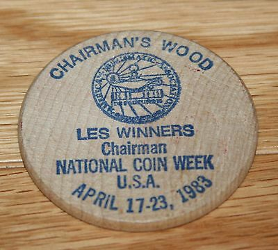 Grandpa's Wooden Trade Dollars - Chairman's Wood, 1983