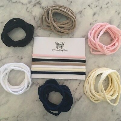 Headband Baby Girl Toddler Newborn Thin Nylon Hair Band Accessories Non Marking