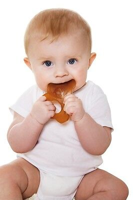 Baby Infant Teething Toy Natural Rubber Panda to soothe baby's gums by Hevea