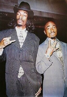 2Pac Tupac Shakur Snoop Dogg Suits Poster New 24X36 Free Shipping
