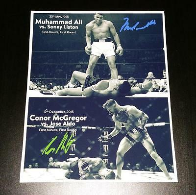 "Conor Mcgregor & Muhammad Ali Pp Signed 10""x8"" Photo Mma Boxing Repro"