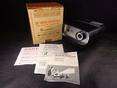 Vintage 1960's GAF VIEW MASTER 100 DELUXE PROJECTOR IN BOX Mint used 1 time