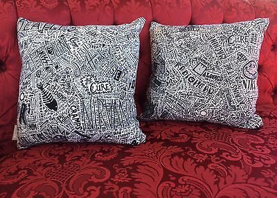 HISTORY of Rock and Roll Throw Pillow Set