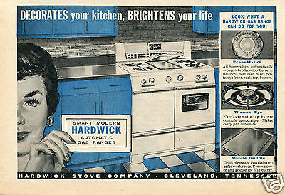 1957 Hardwick Stove Co Kitchen Print Ad Cleveland Tennessee