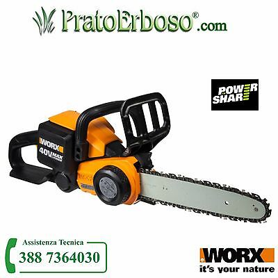 Chainsaw Worx WG368E.9 - battery powered 40V lithium