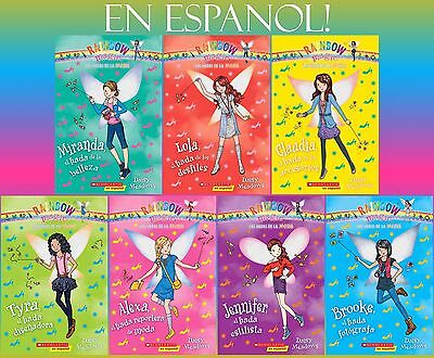 SPANISH Rainbow Magic FAIRIES OF FASHION Series Collection Set Books 1-7 New!