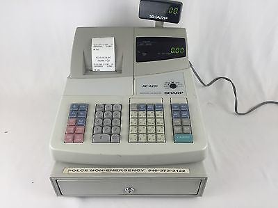 Sharp XE-A201 Electronic Cash Register With Manual