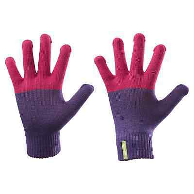 Kathmandu Poma Kids Girls Boys Warm Everyday Outdoor Winter Gloves Pink Purple
