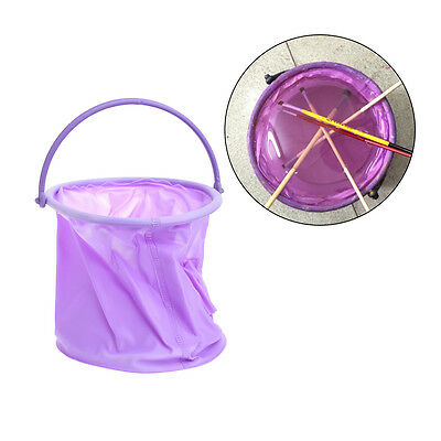Foldable Bucket Container for Brush Pen Washing Clearning Painting Outdoor