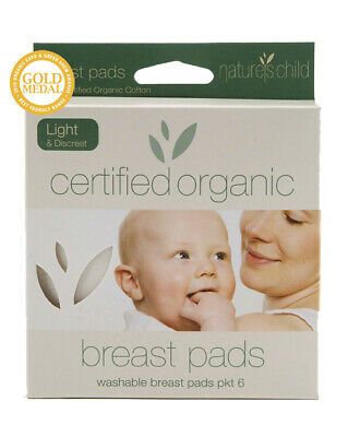 Baby Breast Pads Light & Discreet Nature's Child Organic Cotton 10cm