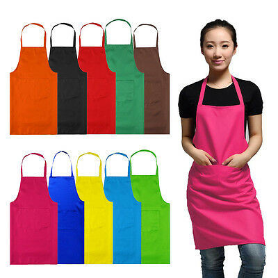 Women Aprons With Pocket Lady Butcher Kitchen Restaurant Cooking Painting Dress